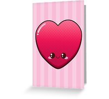 Kawaii Heart Greeting Card