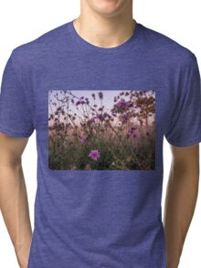 flowers in the field  Tri-blend T-Shirt