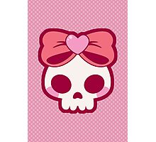 Skull Bow Photographic Print