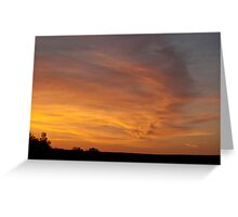 Wind Swept Sunset Clouds Greeting Card