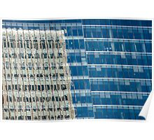 Abstract Reflections on Skyscraper Windows Poster