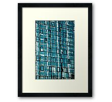 Abstract Reflection on Skyscraper Windows Framed Print