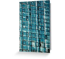 Abstract Reflection on Skyscraper Windows Greeting Card