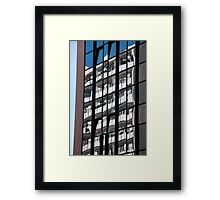 Reflections on Windows Abstract Framed Print