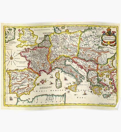 1657 Jansson Map of the Empire ofCharlemagne Geographicus CaroliMagni jansson 1657 Poster