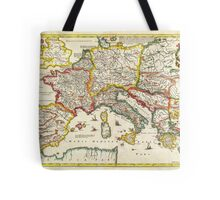 1657 Jansson Map of the Empire ofCharlemagne Geographicus CaroliMagni jansson 1657 Tote Bag
