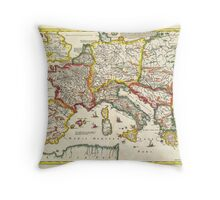 1657 Jansson Map of the Empire ofCharlemagne Geographicus CaroliMagni jansson 1657 Throw Pillow
