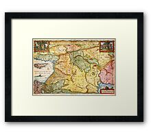 1657 Visscher Map of the Holy Land or the Earthly Paradise Geographicus Gelengentheyt visscher 1657 Framed Print