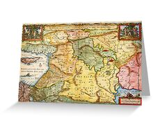 1657 Visscher Map of the Holy Land or the Earthly Paradise Geographicus Gelengentheyt visscher 1657 Greeting Card