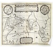 1658 Jansson Map of the Indian Ocean Erythrean Sea in Antiquity Geographicus ErythraeanSea jansson 1658 Poster