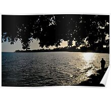 Peaceful Time just before Sunset on Yamacraw Beach in Nassau, The Bahamas Poster