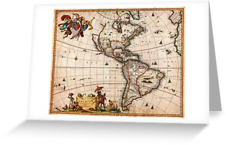 1658 Visscher Map of North America and South America Geographicus America visscher 1658 by Adam Asar