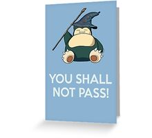 Gandalf Snorlax mashup Greeting Card