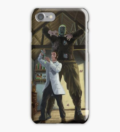 monster loose in victorian science laboratory iPhone Case/Skin