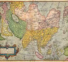1670 Ortelius Map of Asia (first edition) Geographicus AsiaeNovaDescriptio ortelius 1570 by Adam Asar