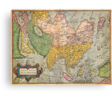 1670 Ortelius Map of Asia (first edition) Geographicus AsiaeNovaDescriptio ortelius 1570 Canvas Print