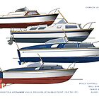 First generation of Fairey Powerboat hulls by Charles  Lawrence