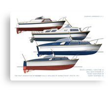First generation of Fairey Powerboat hulls Canvas Print