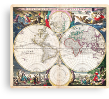 1685 Bormeester Map of the World Geographicus TerrarumOrbis bormeester 1685 Canvas Print