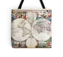 1685 Bormeester Map of the World Geographicus TerrarumOrbis bormeester 1685 Tote Bag