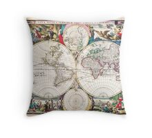 1685 Bormeester Map of the World Geographicus TerrarumOrbis bormeester 1685 Throw Pillow