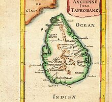 1686 Mallet Map of Ceylon or SriLanka (Taprobane) Geographicus Taprobane mallet 1686 by Adam Asar