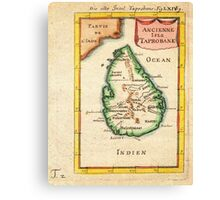 1686 Mallet Map of Ceylon or SriLanka (Taprobane) Geographicus Taprobane mallet 1686 Canvas Print