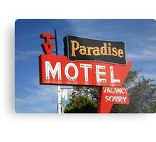Route 66 - Paradise Motel Metal Print