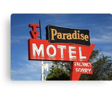 Route 66 - Paradise Motel Canvas Print
