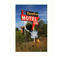 Route 66 - Paradise Motel Art Print
