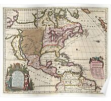 1698 Louis Hennepin Map of North America Geographicus NorthAmerica hennepin 1698 Poster