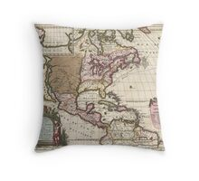 1698 Louis Hennepin Map of North America Geographicus NorthAmerica hennepin 1698 Throw Pillow