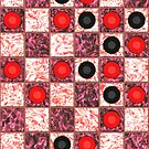 Colorful checkers board by nadil
