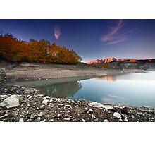 Lago Montagna Spaccata, Monte Greco Photographic Print