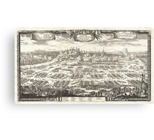 1697 Pufendorf View of Krakow (Cracow) Poland Geographicus Krakow pufendorf 1655 Canvas Print