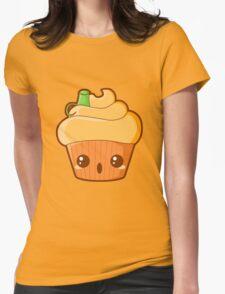 Spooky Cupcake - Pumpkin Womens Fitted T-Shirt