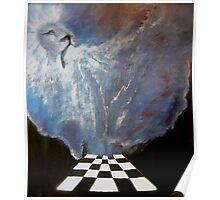 Brenda's prophetic chess board of heaven. Poster