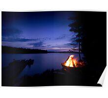 Eagle Lake Campfire Poster