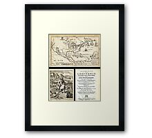 1688 Hennepin First Book and Map of North America (first printed map to name Louisiana) Geographicus NieuwVrankryk hennepin 1688 Framed Print