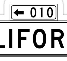 California St., San Francisco Street Sign, USA Sticker