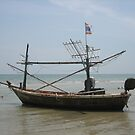 Anchored Boat - Hua Hin, Thailand by M-EK