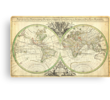 1691 Sanson Map of the World on Hemisphere Projection Geographicus World2 sanson 1691 Canvas Print