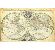 1691 Sanson Map of the World on Hemisphere Projection Geographicus World2 sanson 1691 Photographic Print