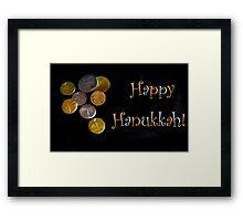 Happy Hanukkah with Chocolate Gelt! Framed Print