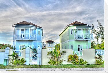 Ocean Front Houses on Eastern Road at Yamacraw Beach - Nassau, The Bahamas by 242Digital