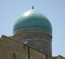 Turquoise Dome Circled by Arabic by Mary-Elizabeth Kadlub