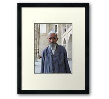 Hopeless Wanting Eyes of a White Beard Framed Print