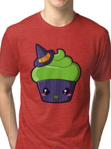 Spooky Cupcake - Wicked Witch Tri-blend T-Shirt