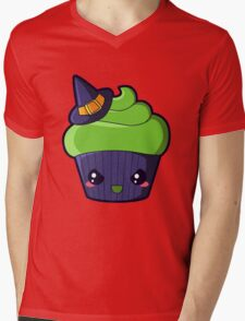 Spooky Cupcake - Wicked Witch Mens V-Neck T-Shirt