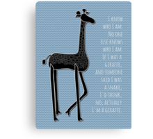 I Am Me Canvas Print
